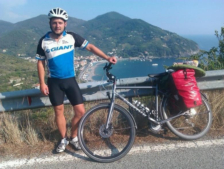 Cycling Italian coast