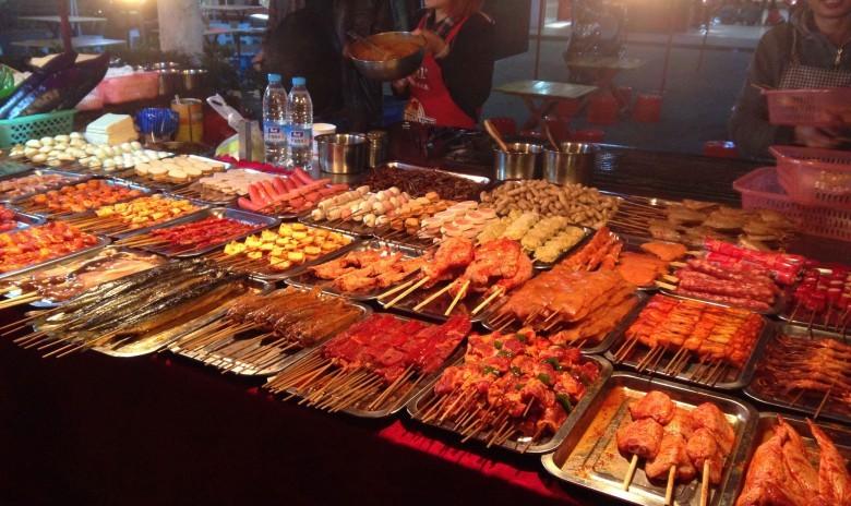 Kunming cycle streetfood bbq