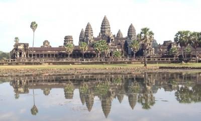 Sunset Angkor Wat Bakheng Mountain