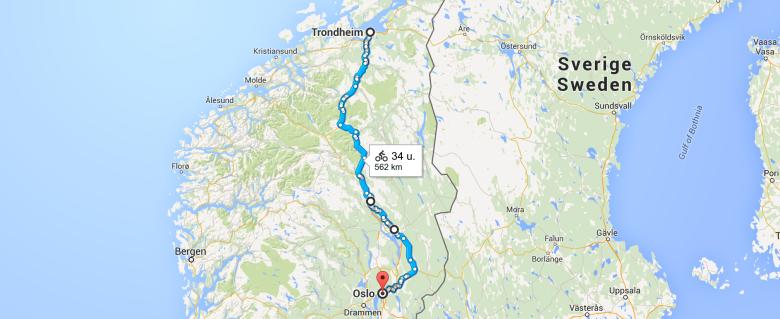 Cycling Oslo Trondheim