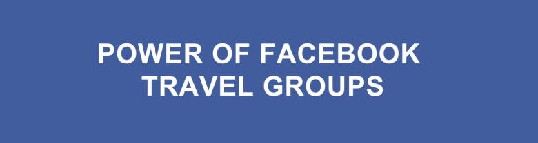 Facebook travel groups